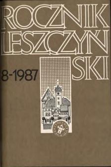 Rocznik Leszczyński 1987 t. 8