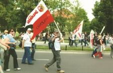 Ogólnopolska manifestacja związkowców Solidarności przed gmachem Urzędu Rady Ministrów w Warszawie w 2011 r.