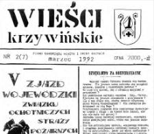 Wieści Krzywińskie 1992.03 Nr 2(7)