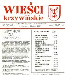 Wieści Krzywińskie 1992.06-07 Nr 5(10)