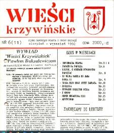 Wieści Krzywińskie 1992.08-09 Nr 6(11)