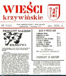 Wieści Krzywińskie 1992.10-11 Nr 7(12)