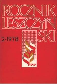Rocznik Leszczyński 1978 t. 2