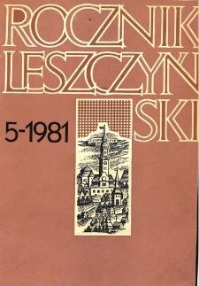 Rocznik Leszczyński 1981 t. 5