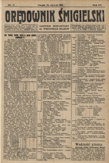 Orędownik Śmigielski 1925.01.15 R.35 Nr 5