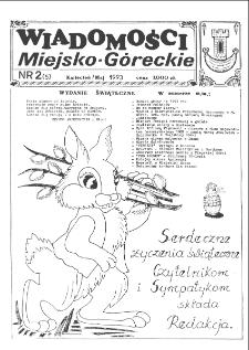 Wiadomości Miejsko-Góreckie 1993 nr 2 (5)