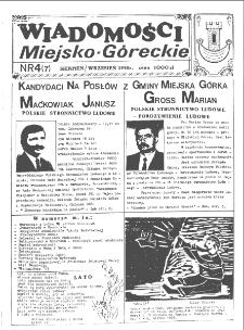 Wiadomości Miejsko-Góreckie 1993 nr 4 (7)