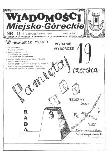 Wiadomości Miejsko-Góreckie 1994 nr 3 (12)
