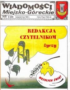 Wiadomości Miejsko-Góreckie 1996 nr 2 (23)