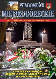 Wiadomości Miejskogóreckie 2014 nr 12 (136)