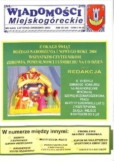 Wiadomości Miejskogóreckie 2003 nr 6 (69)
