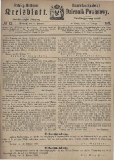 Rawicko-Krobski Dziennik Powiatowy. 1871.02.15 R. 21 Nr 13