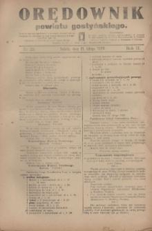 Orędownik Powiatu Gostyńskiego 1920.02.21 R.2 Nr 22