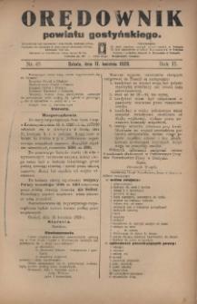Orędownik Powiatu Gostyńskiego 1920.04.17 R.2 Nr 45