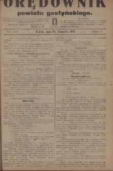 Orędownik Powiatu Gostyńskiego 1919.11.15 R.1 Nr 153