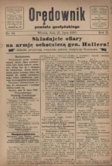Orędownik Powiatu Gostyńskiego 1920.07.27 R.2 Nr 84