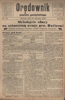 Orędownik Powiatu Gostyńskiego 1920.08.10 R.2 Nr 90