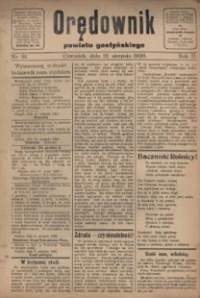 Orędownik Powiatu Gostyńskiego 1920.08.12 R.2 Nr 91