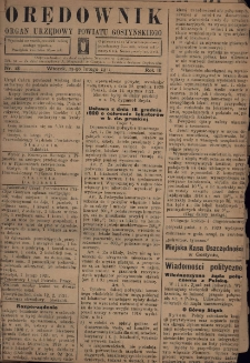 Orędownik 1921.02.15 R.3 Nr 18