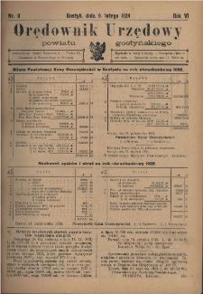 Orędownik Urzędowy Powiatu Gostyńskiego 1924.02.09 R.6 Nr 11