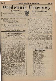 Orędownik Urzędowy Powiatu Gostyńskiego 1924.09.27 R.6 Nr 77