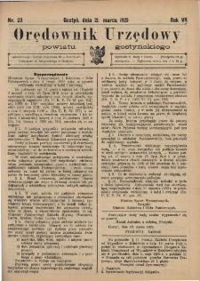 Orędownik Urzędowy Powiatu Gostyńskiego 1925.03.21 R. 7 Nr 23
