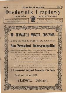 Orędownik Urzędowy Powiatu Gostyńskiego 1925.05.23 R. 7 Nr 41