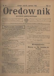 Orędownik Urzędowy Powiatu Gostyńskiego 1929.06.26 R.11 Nr 49