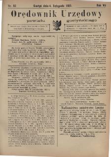 Orędownik Urzędowy Powiatu Gostyńskiego 1925.11.04 R. 7 Nr 82