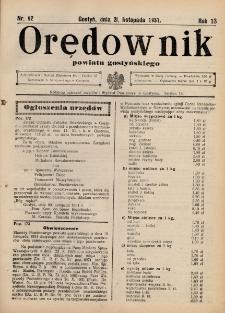 Orędownik Powiatu Gostyńskiego 1931.11.18 R.13 nr 92