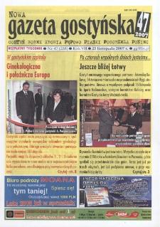 Nowa Gazeta Gostyńska 2007.11.25 R.7 Nr 47(238)