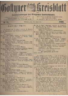 Gostyner Kreisblatt 1900.09.26 Nr 77
