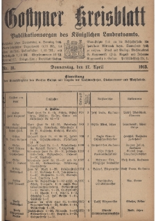 Gostyner Kreisblatt 1913.04.17 Nr 31