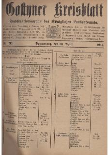 Gostyner Kreisblat 1914.04.23 Nr 33