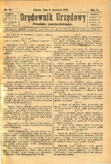 Orędownik Urzędowy Powiatu Leszczyńskiego 1925.09.05 R.6 Nr 33