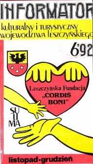 Informator Kulturalny i Turystyczny Województwa Leszczyńskiego 1992.11/12 Nr 6(160)
