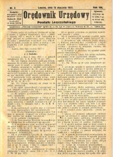 Orędownik Urzędowy Powiatu Leszczyńskiego 1927.01.12 R.8 Nr 2