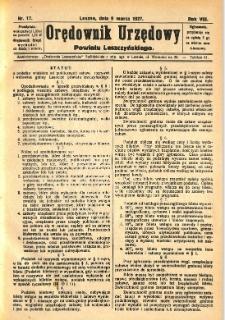 Orędownik Urzędowy Powiatu Leszczyńskiego 1927.03.09 R.8 Nr 17