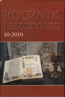 Rocznik Leszczyński 2010 T. 10