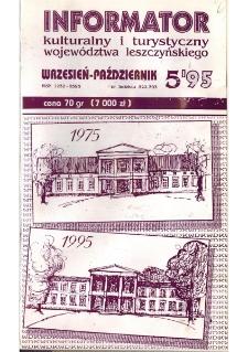Informator Kulturalny i Turystyczny Województwa Leszczyńskiego 1995.09/10 Nr 5(177)