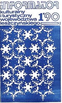 Informator Kulturalny i Turystyczny Województwa Leszczyńskiego 1990.01-03 Nr 1(145)