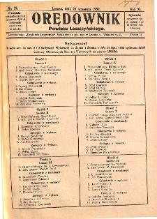 Orędownik Powiatu Leszczyńskiego 1930.09.20 R.11 Nr 39