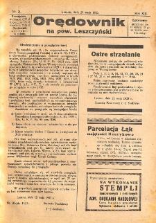 Orędownik na powiat Leszczyński 1933.05.27 R.13 Nr 21