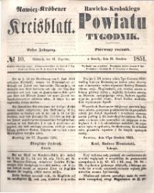Rawicko-Krobskiego Powiatu Tygodnik. 1851.12.31 R. 1 Nr 10
