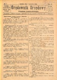 Orędownik Urzędowy Powiatu Leszczyńskiego 1928.01.07 R.9 Nr 1