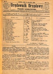 Orędownik Urzędowy Powiatu Leszczyńskiego 1928.01.14 R.9 Nr 2