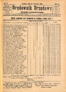 Orędownik Urzędowy Powiatu Leszczyńskiego 1928.01.21 R.9 Nr 3