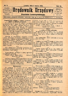 Orędownik Urzędowy Powiatu Leszczyńskiego 1928.03.03 R.9 Nr 9