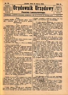 Orędownik Urzędowy Powiatu Leszczyńskiego 1928.03.10 R.9 Nr 10