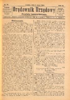 Orędownik Urzędowy Powiatu Leszczyńskiego 1928.05.05 R.9 Nr 18